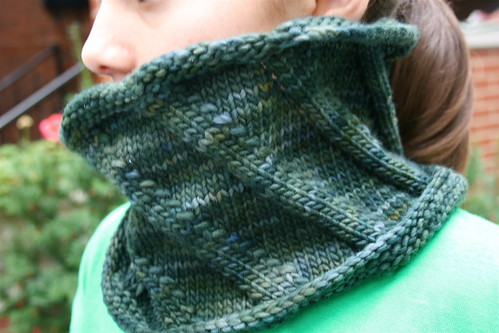 Birthday cowl in Malabrigo 'Vaa'