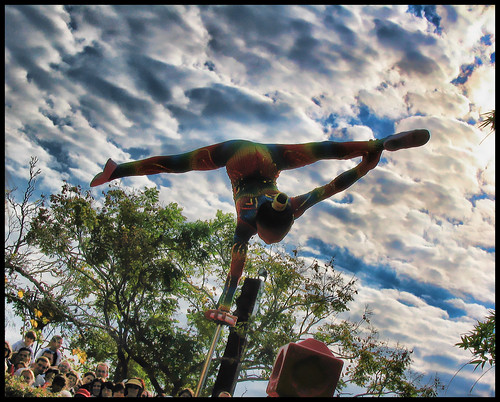 Acrobat at EPCOT (Like it? No? - leave a comment)