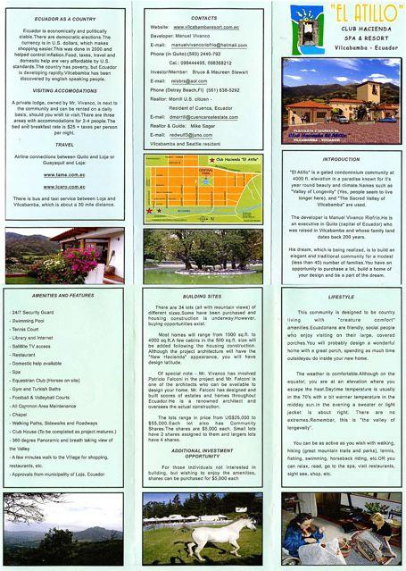 vilcabamba-Brochure