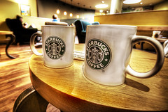 My favorite coffee and my favorite cup size. (yasmapaz & ace_heart) Tags: cup coffee cafe nikon pair starbucks d200 hdr