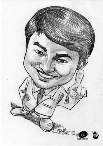 Caricatures Web in Travel 2008 David Soo