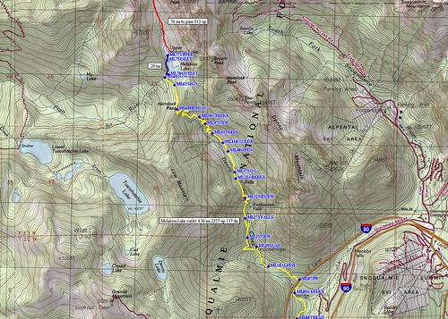 Melawka Lake Trail Route.