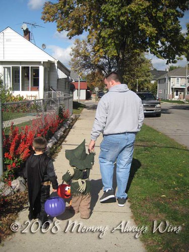 Trick or treat with Daddy