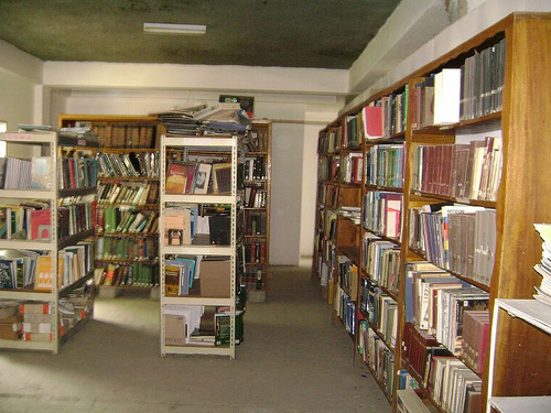 A L'interieur de la bibliotheque