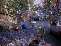 Norm and his sawmill (michael j nolan) Tags: redoak lumbering portablesawmill