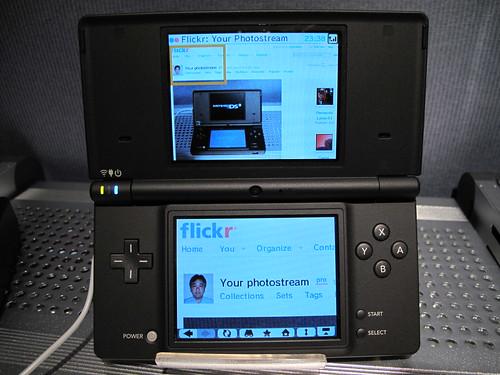 El Nintendo DSi Browser mientras se usa la Internet