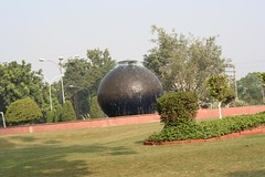 Water feature on a chandigarh roundabout