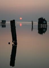 sunset reflections (Blue Spirit - heart took control) Tags: venice sunset reflections seaside venezia veneto pellestrina artofimages bestcaptureaoi èunpostortamaamemipiacelostesso