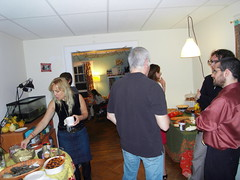 friends and neighbors. (stephiblu) Tags: november autumn party guests fun nj montclair 2008 autumnball autumnball2008 tichenortichenors