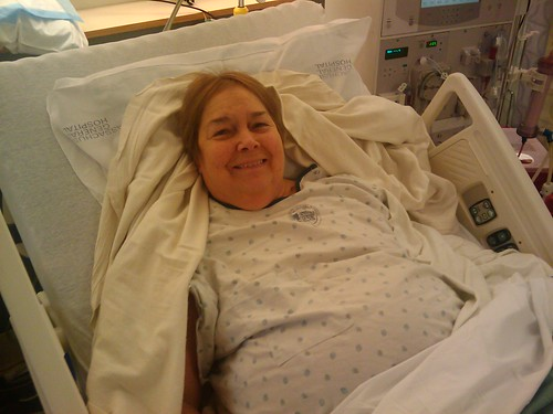 Carolyn before Kidney Transplant Surgery
