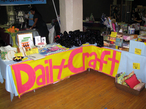 My booth at Felt Club!