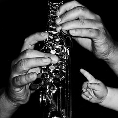 father and son (HanaS.) Tags: music play hand father touch son sax catstevens saxophon