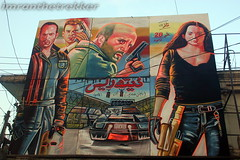 A painted cinema hoarding, English movie, Death Race, Peshawar (imranthetrekker , new year new adventures) Tags: pakistan cinema tourism markets citylife culture adventure peshawar nwfp oldcity inns oldguy hollywoodcinema caravans pathans khyberpass torkham imranthetrekker imranschah tribalareas chitralguy englishmovies