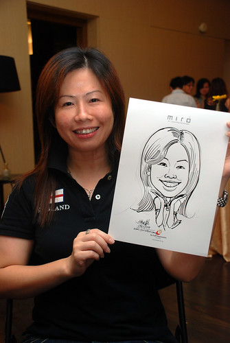 Caricature live sketching for Far East Organisation SPH Media Night The Miro 15
