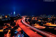 Kuala Lumpur Nightview I (HDR) (2121studio) Tags: nature nikon cityscape tripod d70s ali malaysia slowshutter nightscene kualalumpur indah hdr klcc kuantan twintower alam lighttrail 2121studio kuantanphotographer pahangphotographer ciptaanallahswt