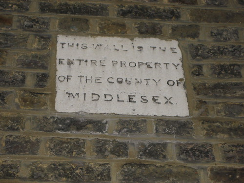 County of Middlesex sign