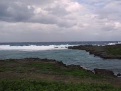 白鳥岬の入り江