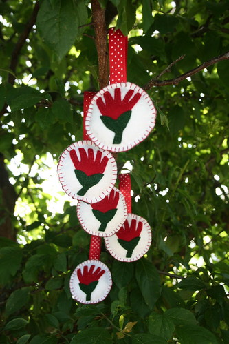 Pohutukawa ornaments