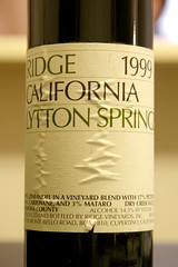 1999 Ridge Lytton Springs Zinfandel
