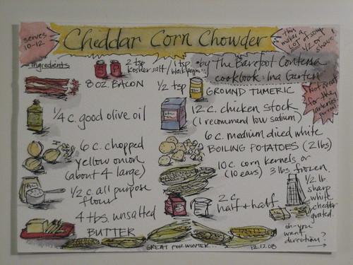 18. Cheddar Corn Chowder