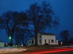 untitled (subliculous) Tags: longexposure blue white house night farmhouse illinois il hour joliet taillights