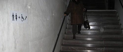 Handikappade i trappan...