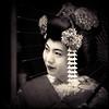 Kyoto memories XVI (manganite) Tags: asia japan nihon nippon 日本 kansai kyoto streets streetshot fashion traditional kimono umbrella parasol candid portrait face white makeup people asian japanese japanesegirl women girls geisha maiko beauty beautiful pretty texture overlay textured bw black toned sepia framed tl digital dslr d200 nikkor manganite nikonstunninggallery utatafeature geotagged geo:lat=34994834 geo:lon=135777546 date:year=2006 date:month=august date:day=20 artofimages topf25 format:orientation=square 18200mmf3556 nikon format:ratio=11 square