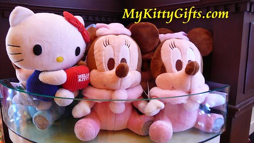 Hello Kitty Meeting Mickey Baby at Merlin's Treasures, Hong Kong Disneyland