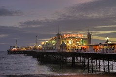 Brighton Pier, East Sussex, England. HDR (mmayson) Tags: uk sunset sea england sky color colour english beach water beautiful clouds sunrise boats pier boat fishing nikon brighton sailing central lamps 18200 hdr vr 18200vr diamondclassphotographer ilobsterit