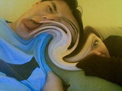 mind meld (poopoorama) Tags: selfportrait me photobooth twirl danny margaret year2 day261 365days