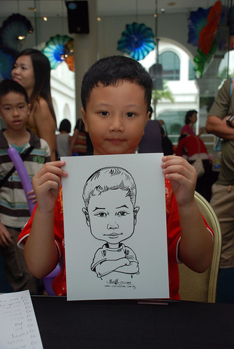 Caricature live sketching at Singapore Art Museum Christmas Open House - 2