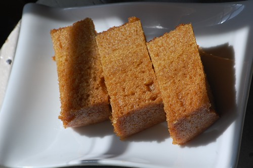 malai kou (steamed brown sugar cake)