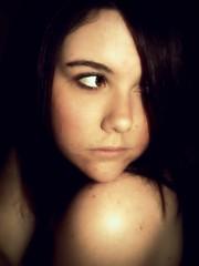 Little girl. (LindsayDanielle) Tags: portrait girl sepia self little shoulder