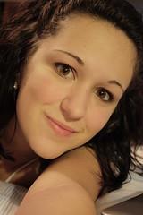 brown eyed girl (.:Amanda Michelle:.) Tags: selfportrait love girl self canon bed poem browneyes