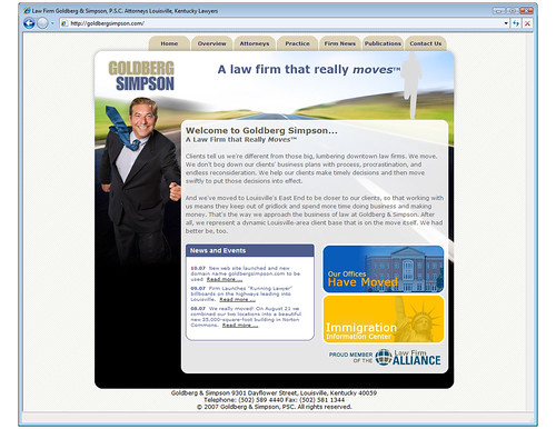 Goldberg home page WebSite  -Ross Fishman Marketing