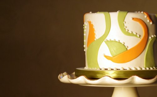 Swirly Anniversary Cake - Blog