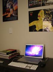 computer desk (kirkhamnick) Tags: bedroom desk setup macbookpro