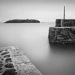 Mullion Harbour, Cornwall (Weeman76) Tags: uk longexposure sea bw seascape southwest monochrome landscape mono nikon cornwall harbour minimal le minimalist mullion d90 mullioncove nd110 mullionharbour niksoft silverefexpro2 sigma1770mmf284dcoshsm
