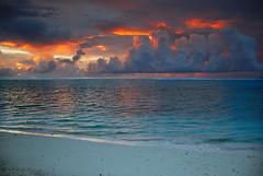 Cook'n up a storm (anthemrdr) Tags: ocean storm beach clouds sunrise island nikon paradise pacificocean southpacific cookislands 18200 vr d80 poseidonsdance