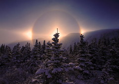 Sundogs (Wolfhorn) Tags: winter snow cold nature alaska landscape sundog