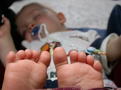 Big feet (Yacenty) Tags: feet kid big child sleep dream pram sen stopa stopy wózek dzieciak dscn1836