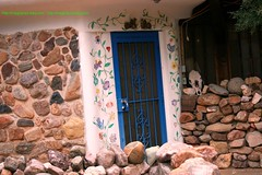 wmDotsy042807 (MegzyTred) Tags: mural tucson doorway tucsonarizona handpaintedmural arizonadoor megzytred
