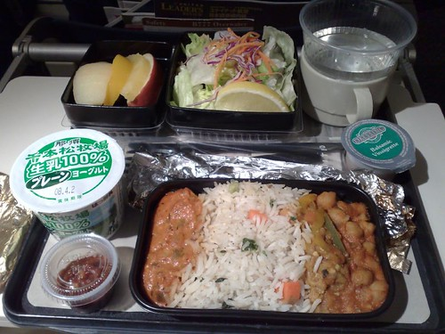 UA's Indian Vegetarian Meal out of Narita