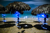 Playas (Ian David Blüm) Tags: ocean longexposure wedding vacation lightpainting beach topv111 night clouds sand topv555 topv333 rocks waves topv1111 tide topv999 cuba shades fullmoon nighttime nightime mostinteresting topv777 caribbean playas conch parasols veradero lightwriting idb utata:project=nocturnal2