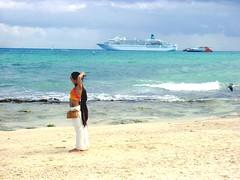 Nice (ruvalcaba) Tags: sea woman white beach beauty del sand legs yacht tan playa cancun cozumel tatoo carmen morena tatuaje bronceado trasatlantico
