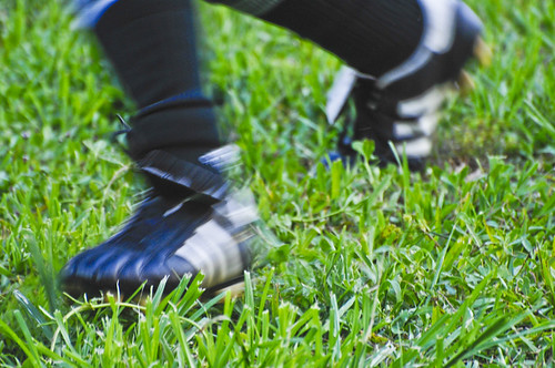 Soccer Shoe Action by TheBusyBrain, on Flickr