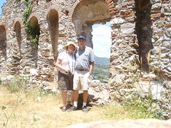 Byzantine ruins with H. and me (steven_and_haley_bach) Tags: me myself mom dad h steven haley byzantine mystras sixthday mistras greecevacation byzantineruins