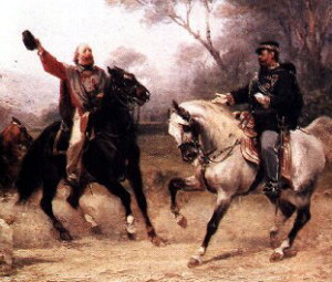 Victor_Emmanuel meeting Garibaldi