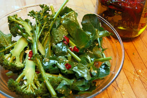 broccoli with garlic and chiles