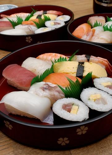 variedades de sushi